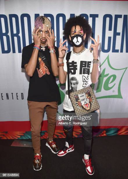 Teo and Ayo and attend of musical group Ayo and Teo attend day one of the 2018 BET Awards Radio Remotes on June 22 2018 in Los Angeles California