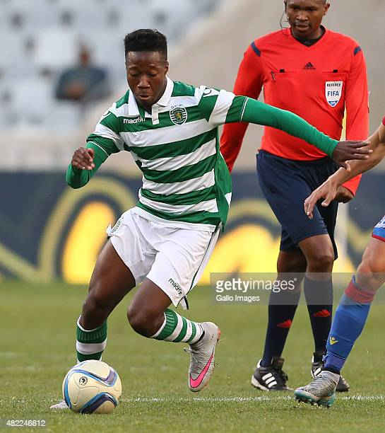 Teo Carlos Mane of Sporting Club de Portugal during the 2015 Cape Town Cup Final match between Crystal Palace FC and Sporting Lisbon at Cape Town...