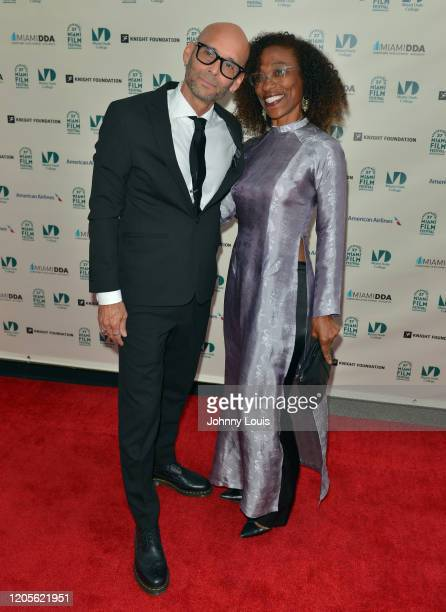 Teo Castellanos and Lorna Castellanos from short film 'Third Trinity' are seen during 37th Annual Miami Film Festival presented by Miami Dade College...