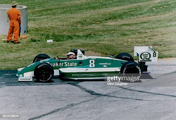 Teo Fabi: Age; 34; home; Milan; Italy; and North Wales; Penn.; status; married with one son; Indy-car season; 4th; victories; 4; car; March 89P...