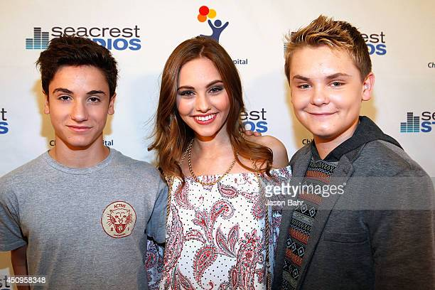 Teo Halm Ella Wahlestedt and Reese Hartwig attend the grand opening of Seacrest Studios at Children's Hospital Colorado on June 20 2014 in Aurora...