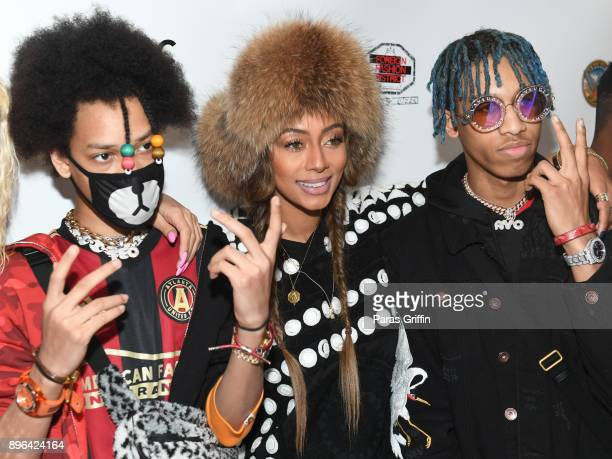 Teo Keri Hilson and Ayo attend 10th Annual Celebration 4 A Cause Where Music Meets Fashion For A Cure at Atlanta City Hall Atrium on December 20 2017...