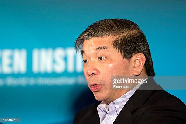 Teo Siong Seng chief executive officer of Singamas Container Holdings Ltd speaks at the Milken Institute Asia Summit in Singapore on Friday Sept 19...
