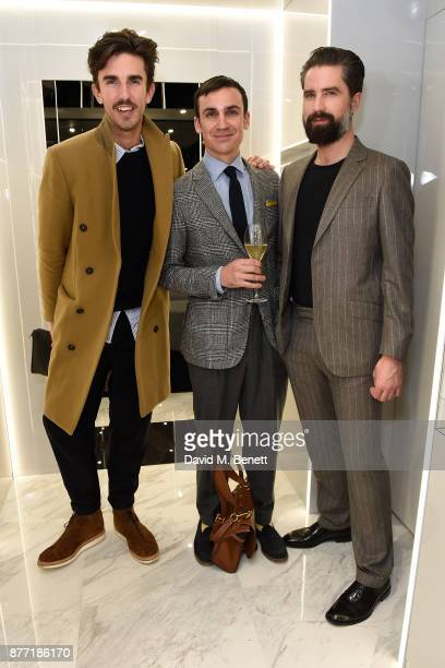 Teo van den Broeke Henry LloydHughes and Jack Guinness attend the men's grooming event for the opening of the first TOM FORD global beauty store in...