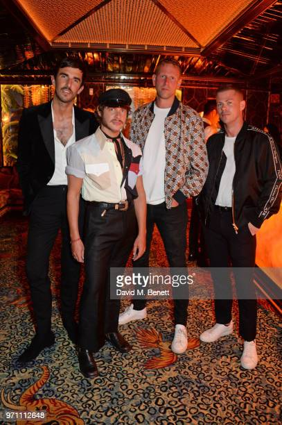 Teo van den Broeke Luke Day Paul Brennan and Michael Hennegan attend the GQ Style and Browns LFWM Party at Annabels on June 10 2018 in London England