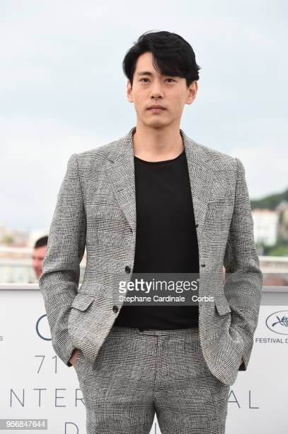 Teo Yoo attends the Leto Photocall during the 71st annual Cannes Film Festival at Palais des Festivals on May 10 2018 in Cannes France