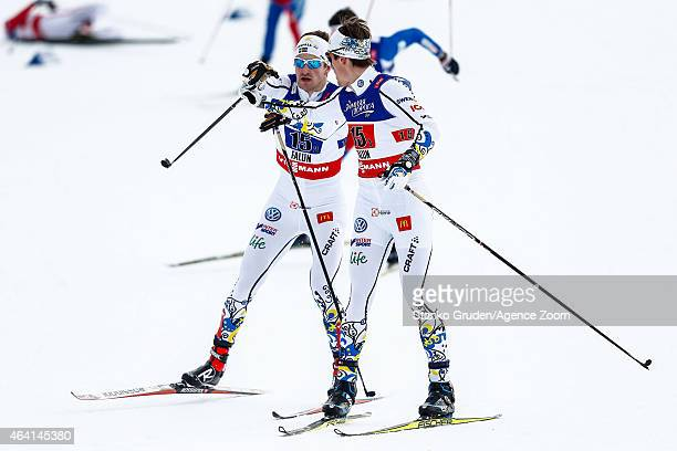 Teodor Peterson of Sweden competes during the FIS Nordic World Ski Championships Men's and Women's CrossCountry Team Sprint on February 22 2015 in...