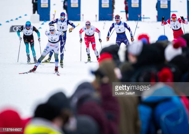 Teodor Peterson of Sweden competes in the sprint quarterfinal heat during the FIS Cross Country Ski World Cup Final on March 22 2019 in Quebec City...