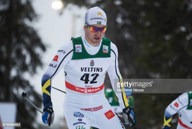 Teodor Peterson Sverige of Sweden during the mens cross country 15K pursuit competition at FIS World Cup Ruka Nordic season opening at Ruka Stadium...