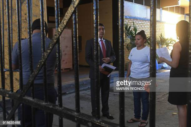 Teodora Vasquez is pictured shortly before being released from the women's Readaptation Center in Ilopango El Salvador on February 15 where she was...