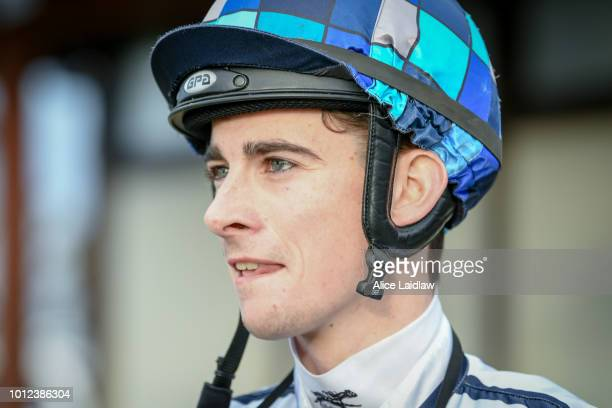 Teodore Nugent after winning the Save The Date April 20 2019 BM58 Handicap at Warracknabeal Racecourse on August 07 2018 in Warracknabeal Australia