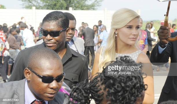 Teodorin Obiang Nguema , the son of Equatorial Guinea's president Teodoro Obiang Nguema and the country's vice president, and his girlfriend Danish...