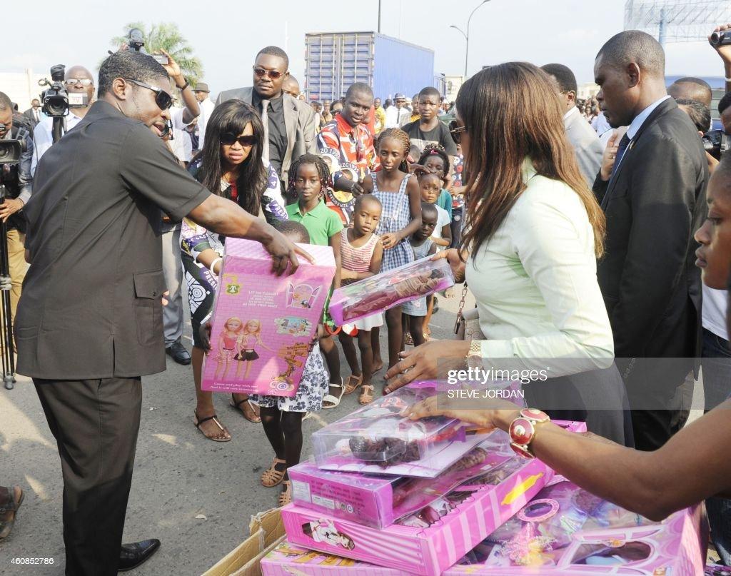 EGUINEA-POLITICS-CHARITY : News Photo