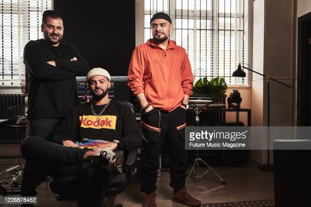 Teodoro Cretella Nariman Akrami and Jordan Parkinson of house music production trio Jaded photographed at their studio in London on September 25 2019