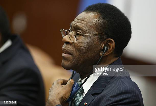 Teodoro Obiang Nguema Mbasogo, President of Equatorial Guinea attends the 68th session of the United Nations General Assembly on September 23, 2013...