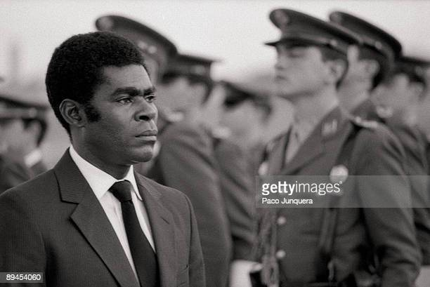 Teodoro Obiang Nguema, president of Guinea Obiang in an official visit to Spain