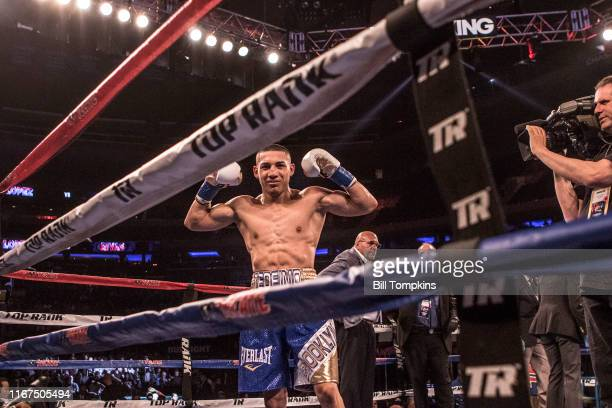 Teofimo Lopez defeats Ronald Rivas by KO in round 2 during their Lightweight fight on May 20, 2017 at Madison Square Garden in New York City.