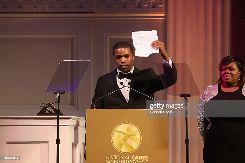 Teonte Miller speaks onstage during the 'For the Love Of Our Children Gala' hosted by the National CARES Mentoring Movement on January 25, 2016 in New York City.