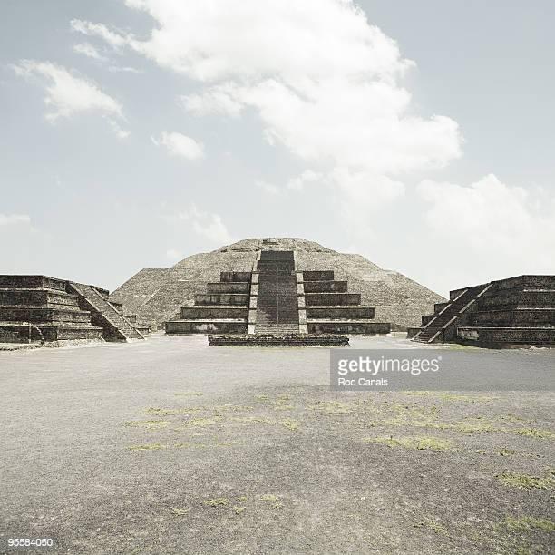 teotihuacan - astecas imagens e fotografias de stock