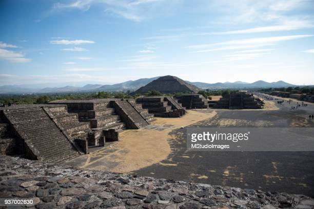 teotihuacan pyramids mexico - latin american civilizations stock photos and pictures