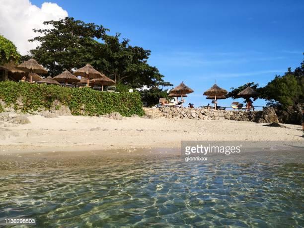tepanee strand, malapascua insel, philippinen - cebu stock-fotos und bilder