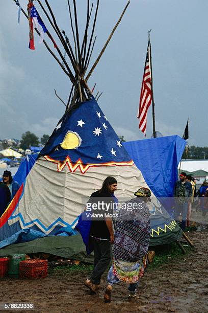 A tepee at Woodstock '94 the twentyfifth anniversary celebration of Woodstock at the original site