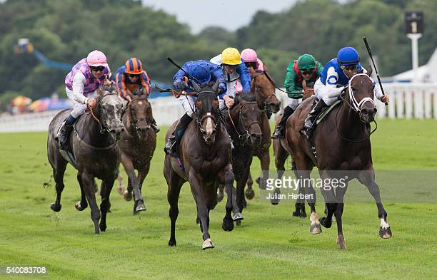 Tepin ridden by Julien Leparoux leads the field home to win The Queen Anne Stakes Race run during Day One of Royal Ascot at Ascot Racecourse on June...