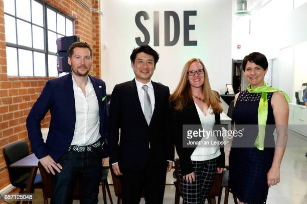 Teppei Tachibana Andy Emery Jacquie Shriver and Deborah Kirkham attend the SIDE LA Launch Party on March 23 2017 in Marina del Rey California