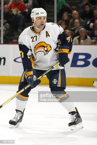 Teppo Numminen of the Buffalo Sabres skates during the game against the Ottawa Senators on November 18 2006 at the Scotiabank Place in Ottawa Canada...