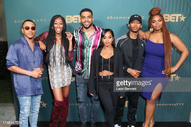 Tequan Richmond Lala Milan Leland B Martin Tetona Jackson RJ Walker and Brittany Inge attend BET's Boomerang Emmy FYC Screening Event at Paramount...