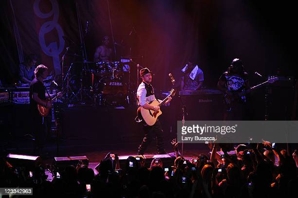 Tequila CEO and Founder Justin Timberlake and Executive Producer of Tennman/Interscope recording artist FreeSol perform onstage from their debut...