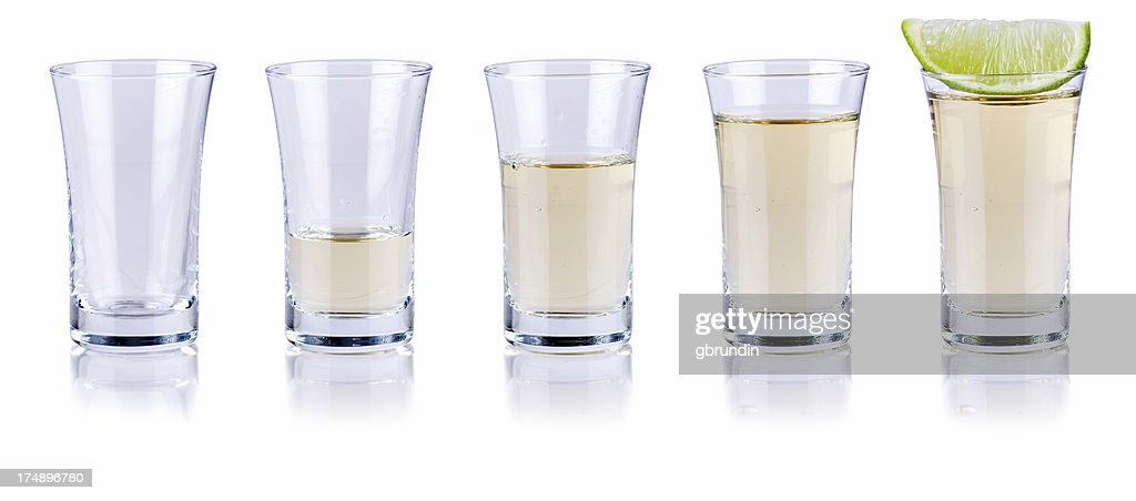 Tequila fill up : Stock Photo