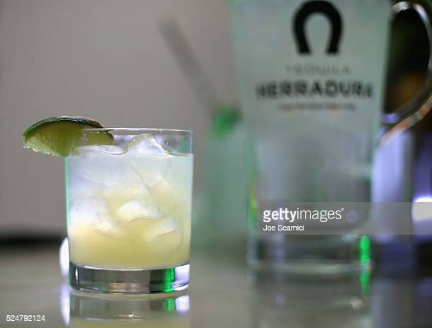 Tequila Herradura Horseshoe Margarita at Casa Herradura Visits Los Angeles on April 26 2016 in Los Angeles California
