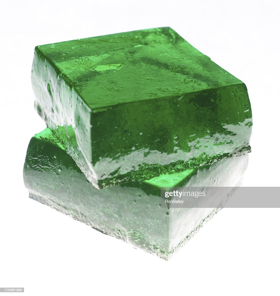 Tequila Lime Jello Jigglers : Stock Photo
