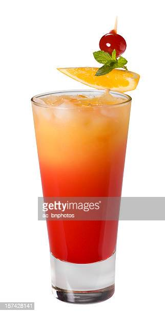 Tequila sunrise cocktail(clipping path)