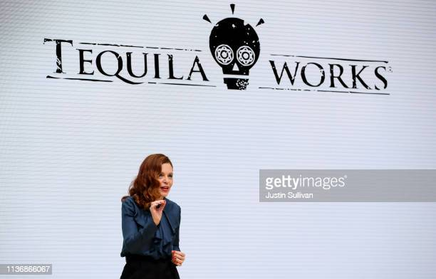 Tequila Works Chairwoman Luz Sancho speaks during the GDC Game Developers Conference on March 19 2019 in San Francisco California Google announced...