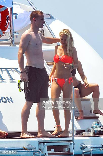 Ter Stegen and Daniela Jehle are seen on July 7 2015 in Ibiza Spain