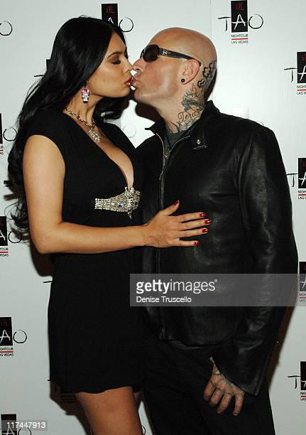 Tera Patrick and Evan Seinfeld during TAO Las Vegas Sutra Wednesdays Hosted by Tera Patrick Premiering 'Mistress Couture' Lingerie Red Carpet at TAO...