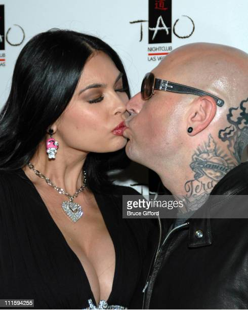 Tera Patrick and Evan Seinfeld during Tera Patrick Hosts Mistress Couture Fashion Show April 18 2007 at Tao Nightclub in Las Vegas Nevada United...