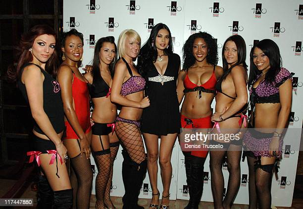 Tera Patrick and Mistress Couture Models during TAO Las Vegas Sutra Wednesdays Hosted by Tera Patrick Premiering Mistress Couture Lingerie Red Carpet...