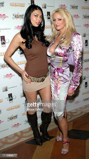 Tera Patrick and Stormy Daniels during Tera Patrick to Host Second Annual Diva Las Vegas Party at TAO Las Vegas at The Venetian in Las Vegas Nevada...