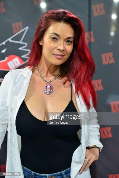 Tera Patrick attends the EXXXOTICA Expo 2018 at Miami Airport Convention Center on July 21 2018 in Miami Florida