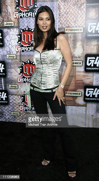 Tera Patrick during GPhoria 2005 The Mother of All Videogame Award Shows Arrivals at Los Angeles Center Studios in Los Angeles California United...