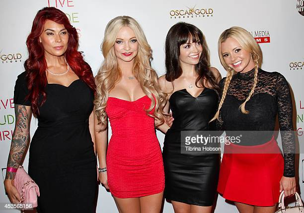 Tera Patrick Mindy Robinson Annemarie Pazmino and Bree Olson attend the 'Live Nude Girls' premiere at Avalon on August 12 2014 in Hollywood California