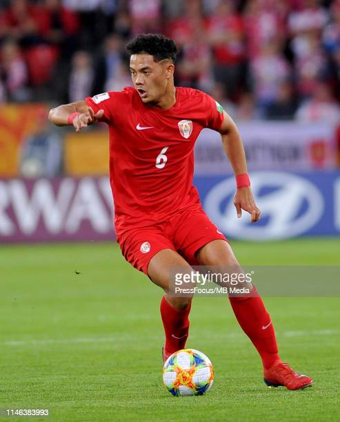 Terai Bremond of Tahiti in action in action during the FIFA U20 World Cup match between Poland and Tahiti on May 26 2019 in Lodz Poland