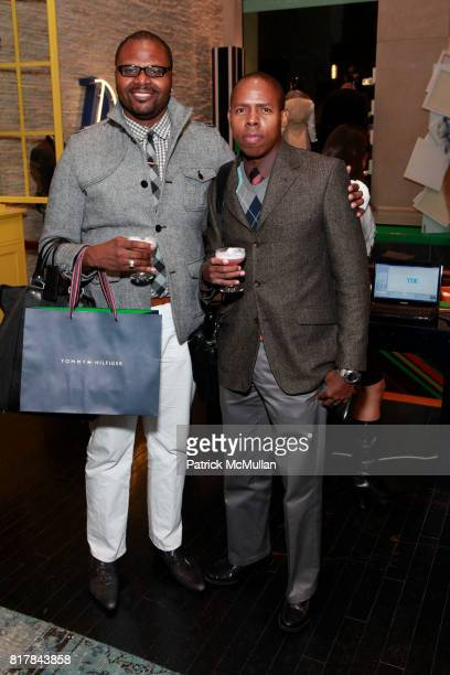Teran Evans and Jerome Whitehurst attend GQ And TOMMY HILFIGER Host A Haberdashery Event With Style Correspondent BRETT FAHLGREN at Tommy Hilfiger...