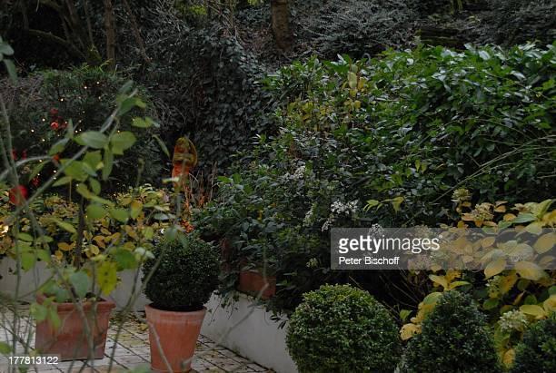 Terasse von Heide Keller Homestory Bad Godesberg / Bonn NordrheinWestfalen Deutschland Europa Garten Schauspielerin