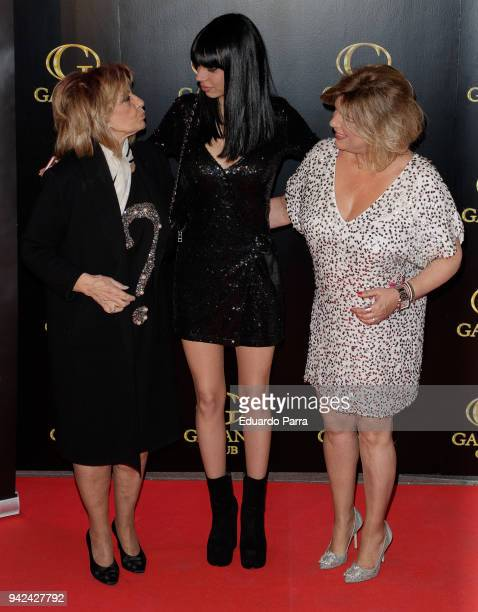 Terelu Campos Alejandra Rubio and Maria Teresa Campos attend the 'Alejandra Rubio's birthday photocall' at Gabana disco on April 5 2018 in Madrid...