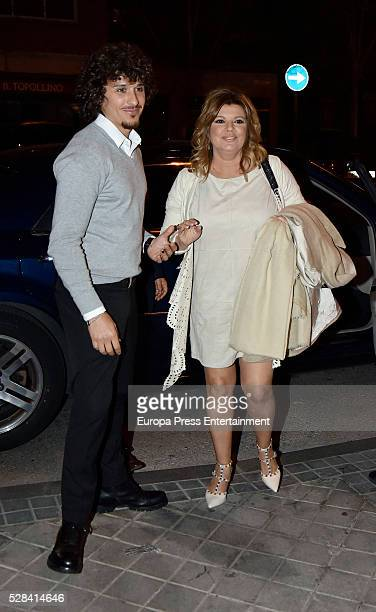 Terelu Campos and Agustin Etienne are seen on April 7 2016 in Madrid Spain