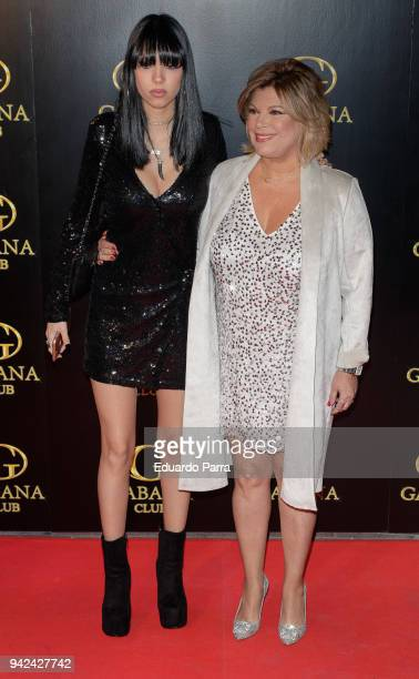 Terelu Campos and Alejandra Rubio attend the 'Alejandra Rubio's birthday photocall' at Gabana disco on April 5 2018 in Madrid Spain